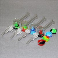 Wholesale nectar collector for dabs resale online - 10mm mm Quartz Tip With Keck Clips For Mini Nectar Collector Kits Quartz Tips Nail Glass Water Bongs Pipes Dab Oil Rigs