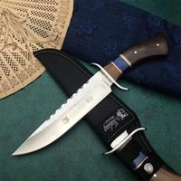 Wholesale crkt resale online - Tactical Straight knife Crkt SA81 Fixed knife CR13 blade Steel head color wood handle Camping Tactical outdoor tools