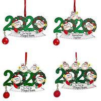 Wholesale Christmas Birthday DIY Accessories Greetings Christmas Party Pandemic Ornament Distancing Pendant Tree Social Quarantine OWD1 Tnuxk