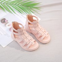 Wholesale tall girl winter shoes for sale - Group buy Children s Summer New Girls Princess Shoes Tall Canister Fringed Boots Cool Girl Hollow Open Toe Sandals Roman Size