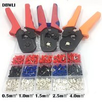 Wholesale ferrule tool resale online - 1530pcs mm2 AWG HSC8 mm2 crimping pliers electric tube terminals box clamp tools Kit Ferrule Crimper Y200321