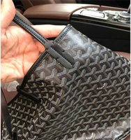 Wholesale totes leather bag for sale - Group buy Fashion GOY Designer Women Leather Canvas Handbag Large Tote French Style Shopping Bag GM Size Goyaa Shoulder Bags