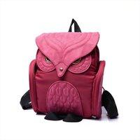 Wholesale purple owl backpack resale online - Fashion Vintage Owl Elegant Women Men Bag Backpack Women Backpack Travel Shoulder Bag Rucksack