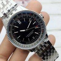 Wholesale watches navitimer resale online - New Luxury Man B01 watches mm leather steel belt quartz mechanical movement full navitimer working watch designer wristwatch eFMh