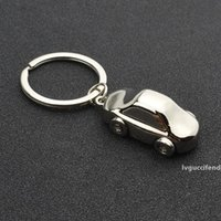 Wholesale baby shower favor keychain resale online - Car Shape Chic Keychain First Birthday Baby Shower Favor Baptism Party Souvenir Gift for Guest WB396