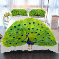 Wholesale peacock bedding for sale - Group buy Bedding Piece Duvet Cover Sets Watercolor Illustration Of A Bird Peacock Duvet Cover Designer Bed Comforters Sets