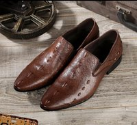 Wholesale dress peas for sale - Group buy New mens designers dress Genuine leather Metal snap Peas wedding classic Men Shoes big size loafers