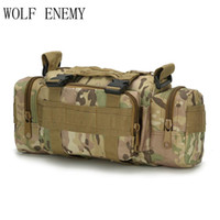 Wholesale tactical pouches for sale - Group buy Outdoor Tactical Waist Pack L Waterproof Oxford Molle Camping Hiking Pouch Backpack Bag Portable Waist Bag