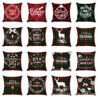 Wholesale cotton pillow cases for sale - Group buy Christmas Throw Pillow Cover x Inch Winter Holiday Cushion Case for Sofa pillow case