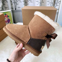 Wholesale kid boots for sale - Group buy Lady Style Women Kids Baby Winter Fashion Snow Boots Top jointly Signed Genuine Leather Ankle Boots Style Shoes Boot Women Kids