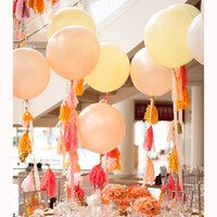 Wholesale baby showers decorations resale online - 36inch Balloons Big Round Balloons Wedding Decoration Baby Shower Birthday Giant Latex Balloon Party Supplies Pa56 sqcNrP toys2010