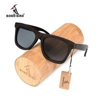 lente do pássaro venda por atacado-BOBO BIRD okulary desgaste polarizada Ebony Madeira Sunglasses Brown Grey Lens UV400 Eye Handmade Personalizar