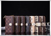 Wholesale samsung note flip covers for sale – best Top Designer Luxury Leather Phone Cases For iPhone Pro Max Xr Xs s Plus Wallet Flip Cover Samsung Note S9 S10 S20 Ultra