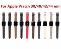 L fashion designer Watchbands 42mm 38mm 40mm 44mm iwatch 2 3 4 5 bands Leather Strap Bracelet Stripes watchband free shipping