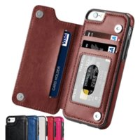 Wholesale flip phone holder for sale – best Retro PU Flip Leather Case For iPhone Mini Pro Max XS Multi Card Holder Phone Cases For iPhone X s Plus SE Cover
