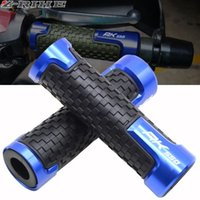 Wholesale motorcycle gel hand grips handlebar resale online - Motorcycle mm Cnc Aluminum Handlebar Hand Grips Rubber Gel Grip Accessories For Kymco Ak550 Ak Abs