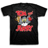 Wholesale Mens Tom Jerry Battle Shirt Classic Hanna Barbera Tee Vintage Cartoon Chase T Shirt Black X Large sport Hooded Sweatshirt Hoodie