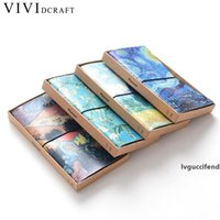 Wholesale book bind resale online - Vividcraft School Supplies Van Goah Painting PU Leather Cover Planner Notebook Diary Book Exercise Composition Binding Note