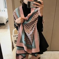 Wholesale geometric print scarves for sale - Group buy scarfs for women Cashmere Scarf Double faced printing Long Best Quality Classic Brand Warm Scarves Pashmina Scarf x65cm