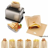Wholesale cheese sticks for sale - Group buy Teflon Toaster Bag Reusable Grilled Cheese Sandwiches Bags Non stick Baked Toast Bread Bags Kitchen Store Toast Bread Bags
