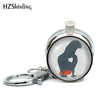 Wholesale birds keychains resale online - New Arrival African Grey Parrot Keychains Cute Bird Keyring Parrots Photo Jewelry Glass Dome Key Chain Hand Craft Keyrings