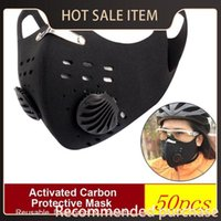 Wholesale crkt resale online - Masks Masks Face Training Protective Cycling Bike Pm2 Anti pollution With Running Sport Road Reusable Carbon Dust Activated Crkt