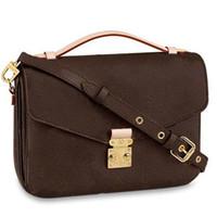 hot designer handbag messenger bag oxidizing leather POCHETTE metis elegant shoulder bags crossbody bags shopping purse clutches 40780