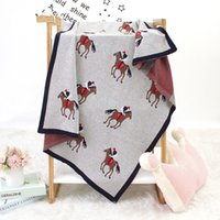 Wholesale boys quilt covers resale online - Cotton Knitting Envelope New Born Boy Girl Swaddle Wrap Accessories Toddler Sofa Crib Bed Quilts cm Stroller Covers Y201001
