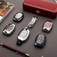 Wholesale benz car parts resale online - Car Key Bag Case Cover Key Holder Chain Auto Part For Mercedes benz W251 W463 C180 E200 GLK300 GLK GLA SLK AMG A B C R G E class