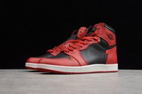 "ingrosso scarpe da basket femminili-Nike Air Jordan 1 shoes Men's ST version high top ""brothers"" reverse black and red 1 retro culture basketball shoes 1 shoes WMNS women's sports shoes size 36-45"