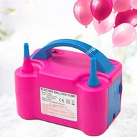 Wholesale pump balloons for sale - Group buy 110V V Portable Balloon Electric Inflation Pump Balloon Double Mouth Plug Electric Inflator Machine Party Supplies
