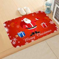 Wholesale tree bathroom decor for sale - Group buy Red Christmas Mat Santa Claus Elk Floor Mat Xmas Non Slip Doormat Kitchen Bathroom Decor Merry Christmas Decor For Home bbyCCp