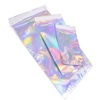 Wholesale self adhesive cookie bags resale online - Laser Color Aluminum Foil Self Adhesive Retail Bag Candy Cookies Mylar Foil Packing Pouch for Grocery Crafts Packaging express bag