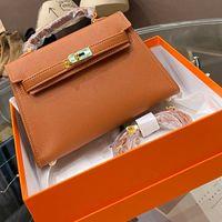 Wholesale design hand bags resale online - Women Handbag Purse Epsom Design Leather Shoulder Bags Kelly Ladies Tote Bag wallet Birkin Steel hardware Hand bags Package Box Color