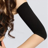 Discount slimming arm shaper sleeve Women Slimming Compression Arm Shaper Tone Shape Upper Arms Sleeve Slimming Arm Belt Arm Shape Taping Massage DDB4487