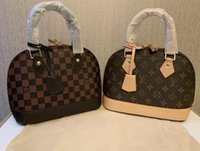 Wholesale discount totes resale online - F brand new Women s Bags European and American fashion designer shell bag PU leather gold chain a large number of discounts