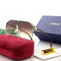 Wholesale gafas retro resale online - Ladies Retro Polarized Sunglasses Rimless Frame Sun Glasses Fashion Eyewear Gafas De Sol Flat Top Women G GG sunglasses G