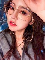 Hotsale Metal Logo-c Glasses Sunglasses Chain Fashion Female Letters designed Sunglasses Anti-slip Chain Gold S