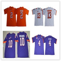 Wholesale Clemson Tigers Kelly Bryant Travis Etienne Jr Hunter Renfrow Watson Purple Orange White Stitched NCAA Football Jerseys S XL