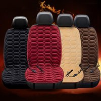 Wholesale 12v auto electric car resale online - Heating Car Seat Cushion V Heated Auto Seat Cover Plush Heater Winter Warmer Control Temperature Electric Heating Pad