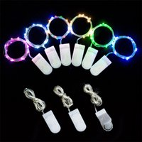 Wholesale led decorative light string for sale - Group buy New LED string copper wire lamp button battery box copper wire Christmas lantern outdoor garden decorative light string