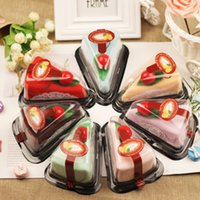 Wholesale baby shower guests gifts resale online - Christmas decoration lovely cake shape towel creative towels birthday gifts baby shower valentine s day wedding gift for guest party GWC2586