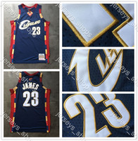 Wholesale cleveland cavaliers for sale - Group buy Mens Retro Cleveland Cavaliers Jerseys Blue LeBron James Mitchell Ness2008 Stitched Hardwoods Classics Swingman Jerseys