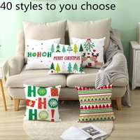 Wholesale woven home pillowcase for sale - Group buy 45 cm Christmas Snowflake Pillowcase New Year Decor Santa Cushion Covers Home Sofa Pillow Case Xmas Pillow Cover Party Supplies WY882