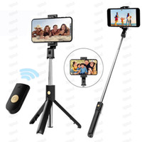 3 in 1 Wireless Bluetooth Selfie Stick Foldable Mini Tripod Expandable Monopod with Remote Control for iPhone IOS Android K07