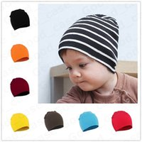 Wholesale cute boys cap for sale - Group buy Kids Newborn Baby Winter Knit Beanies Toddler Hat Boys Girls Candy Color Soft Cute Knitting Hats Infant Outdoor Skull Caps Hats F101301