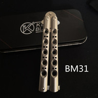 BENCHMADE Theone BM31 D2 Blade Bushing Training SWING Knife Outdoor Camping Hunting Pocket BM42 BM41 BM 43 46 47 49 Butterfly Knife