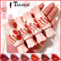 Wholesale red lips gloss for sale - Group buy Teayason Lovely Candy Lip Tint Sexy Red Liquid Lipstick Long Lasting Waterproof Velvet Matte Lipgloss Lip Gloss Colors