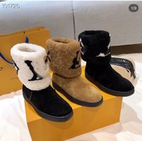 Wholesale woman boots brown for sale - Group buy 2020 New designers snow boots women fashion soft leather flat boot girls casual winter brown shoe with fur half boots black size L28