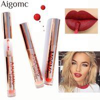 Wholesale best lip gloss waterproof resale online - 12colors Best Sale Hot Cosmetics Makeup Lip Gloss Long Lasting Waterproof Easy to Wear Matte Lipstick